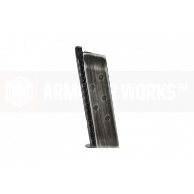 NEMG 1911 Single Stack Gas Magazine (Flat Baseplate) Black Patina Weathered Effect