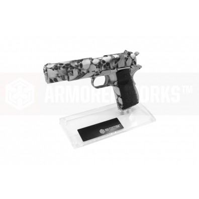 AW Custom™ Toughened SGA Acrylic Pistol Display Stand (Single Stack) - Clear
