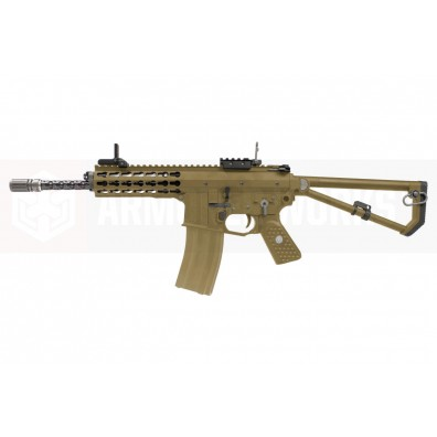 EMG / Knights Armament Airsoft PDW M2 Standard Gas Blowback Rifle (Tan)