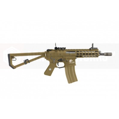 EMG / Knights Armament Airsoft PDW M2 Compact Gas Blowback Rifle (Tan)