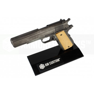 AW Custom™ Toughened SGA Acrylic Pistol Display Stand (Single Stack) - Black