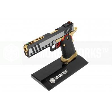 AW Custom Toughened SGA Acrylic Pistol Display Stand (Double Stack) - Black