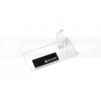 AW Custom™ Toughened SGA Acrylic Pistol Display Stand (Single Stack) - Clear