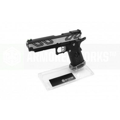 AW Custom Toughened SGA Acrylic Pistol Display Stand (Double Stack) - Clear