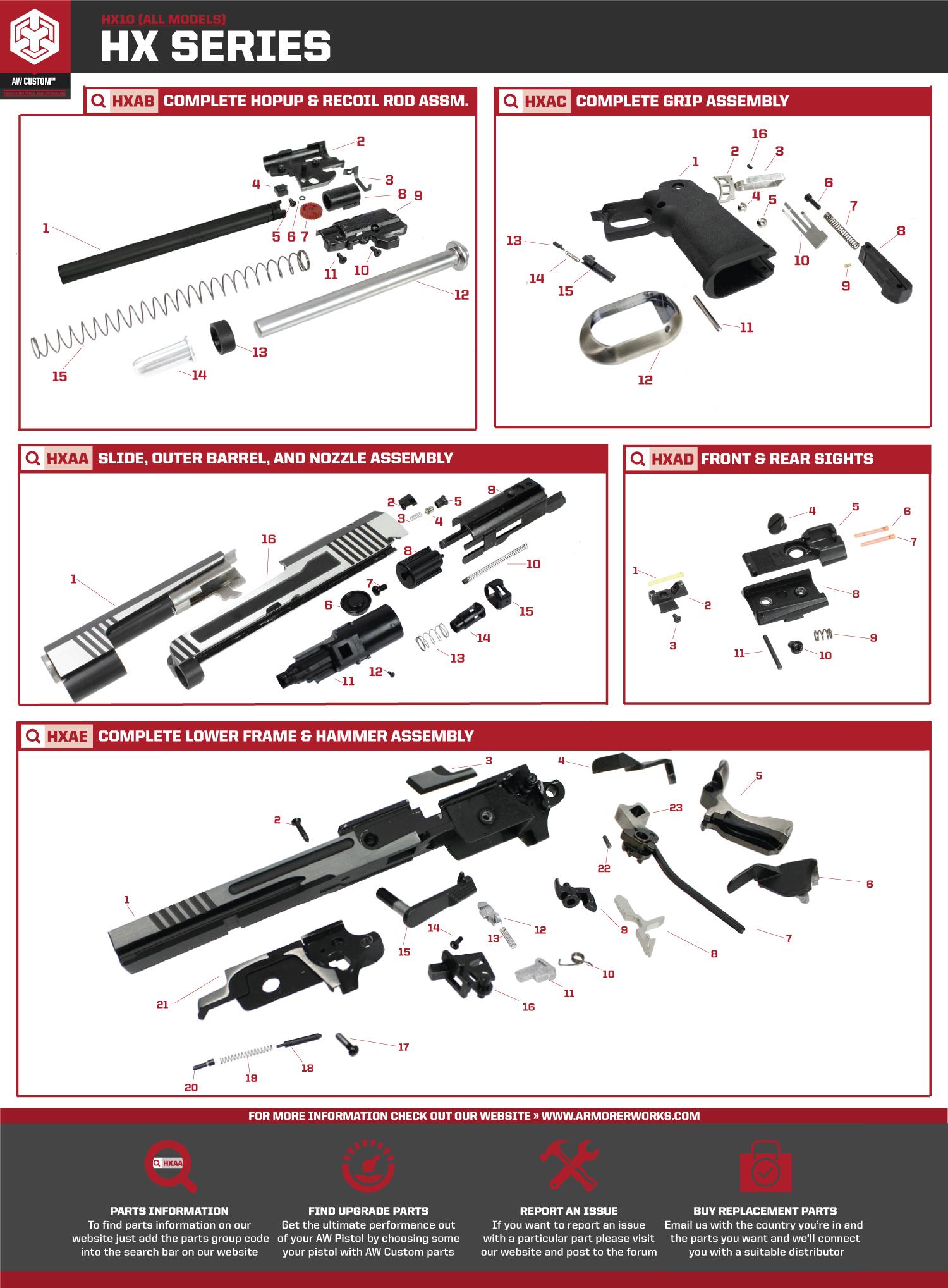 HX10 Parts Diagram on