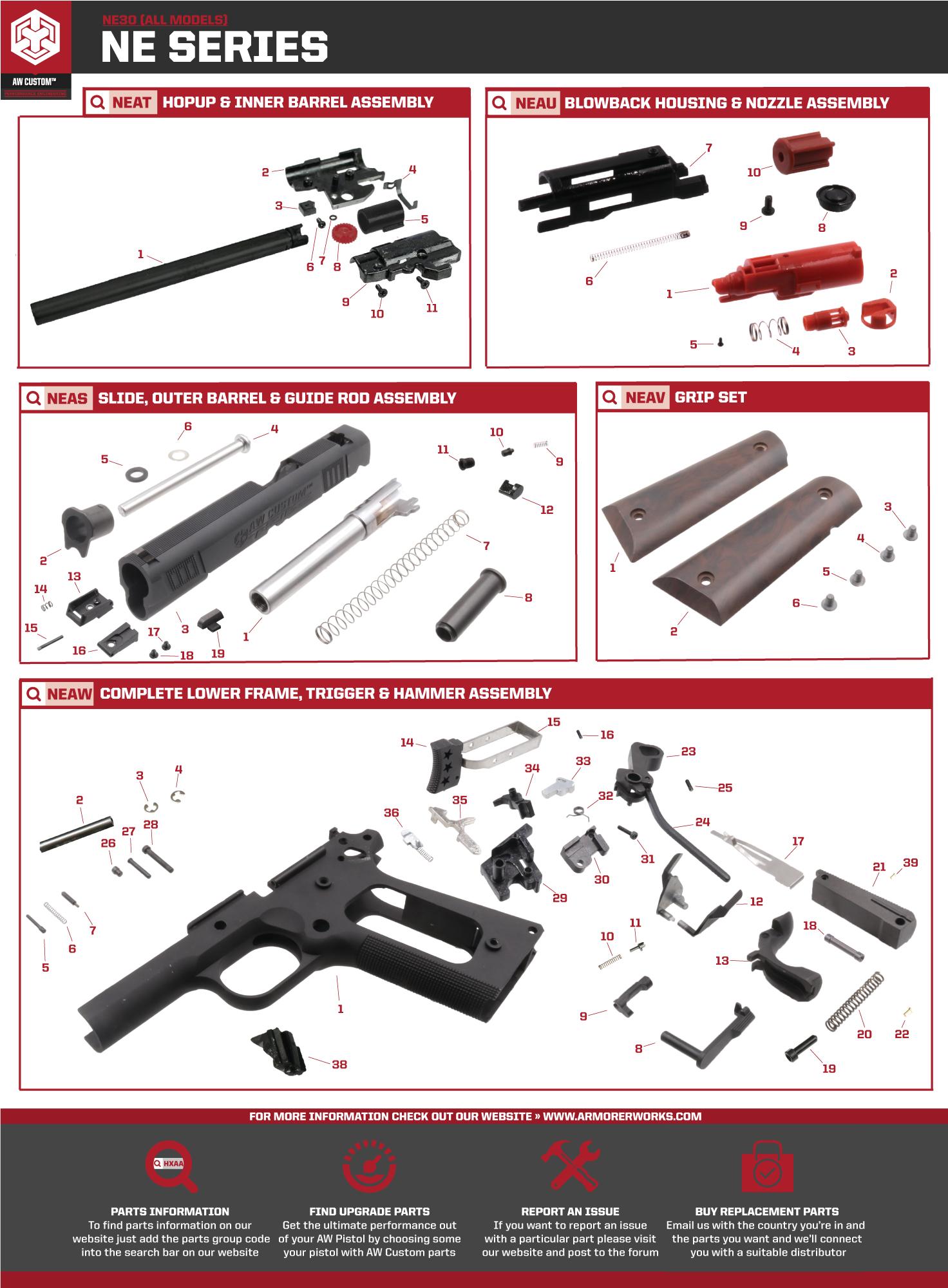 NE30 Parts Diagram on